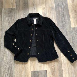 Soft Stretch Corduroy Jacket in Black